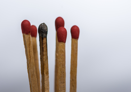 Conceptaual of matchsticks for your idea. Stock Photo
