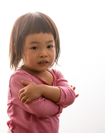 2 years: Thai toddler girl in 2 years old Stock Photo
