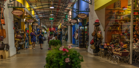 Bangkok, Thailand - Nov 14, 2015 Unidentified people in Metro mall, the shopping area in MRT subway  station of Thailand