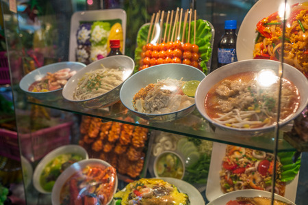 Bangkok, Thailand - Nov 14, 2015 Shop that create food model for sell  in JJ Mall which located next to Chatuchak market. Editorial