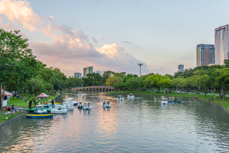 Bangkok, Thailand Nov 22, 2015 Chatuchak Park is the name of a public park in Chatuchak district, It is also the name of the Bangkok Metro station that lies under the park.
