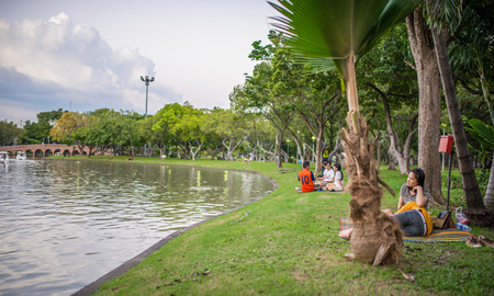 horizental: Bangkok, Thailand Nov 22, 2015 Chatuchak Park is the name of a public park in Chatuchak district, It is also the name of the Bangkok Metro station that lies under the park.