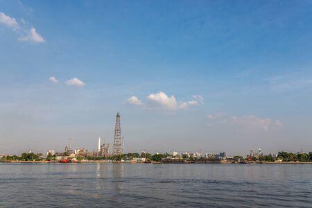 praya: Samut Prakan, Thailand. The Factories zone at Chao Praya river.