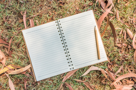 fill in: Blank notebook for nature concept to fill in