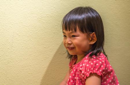 Asian toddler girl in portrait shot