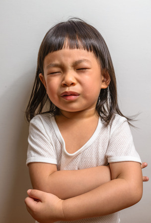 Little girl with painful