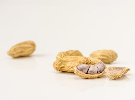 Peanut in macro shot in studio Stock Photo
