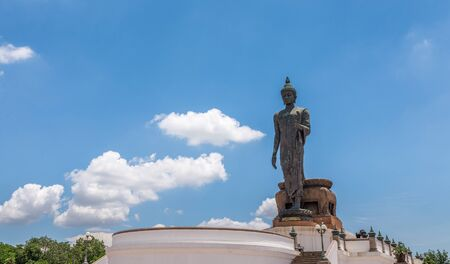 Nakhon Pathom, Thailand - July 17, 2016  The huge Buddha at Phutthamonthon park in the Phutthamonthon district. One of a famous place for Buddhism. Located on the west of Bangkok