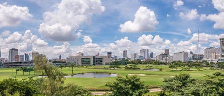 Bangkok, Thailand - Sep 27, 2016 Royal Bangkok Sports club such as golf, swimming pool, tennis etc. Located in downtown Pathumwan. Visit by taking BTS to Ratchadamri station Editorial