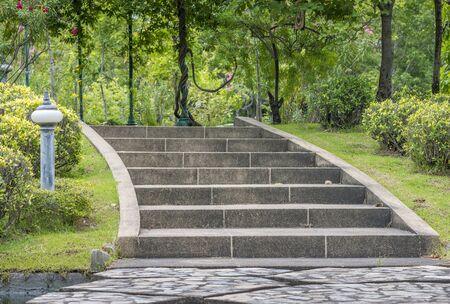 Stair in a huge garden of Bangkok, Thailand