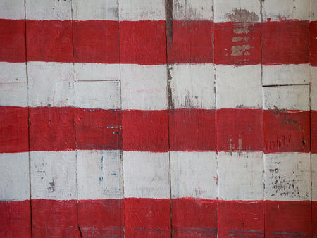 Background painted wood plank wall, red and white.