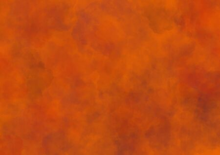 Smoke pattern on orange background, spooky smoke, concept for halloween.