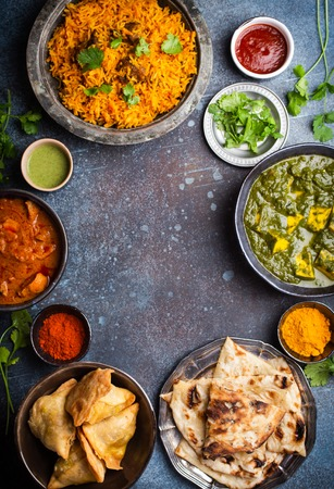 Authentic Indian dishes and snacks