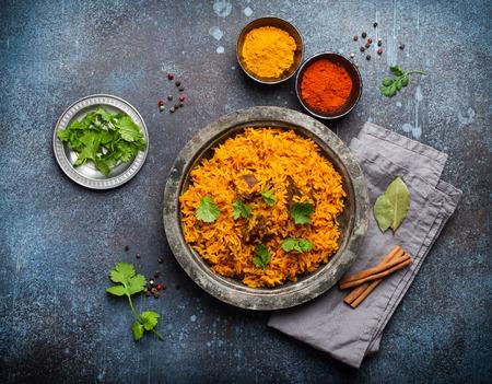 Traditional Esstern rice dish Pilaf Foto de archivo