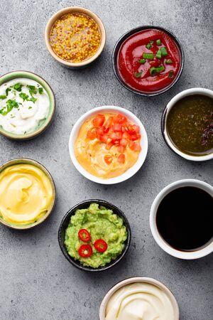 Assortment of sauces Imagens
