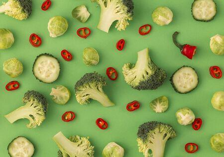 Colourful vegetables concept