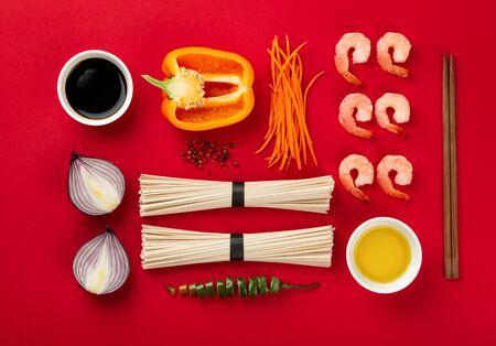 Asian noodles concept Foto de archivo