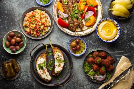 Middle eastern dinner table Stock fotó