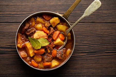 Meat vegetables stew Stockfoto