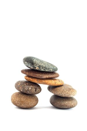 pebble stone isolated on white background photo