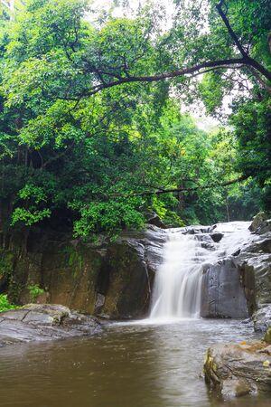 palau:  Pa-La-U waterfall  one of many famous waterfall in Thailand in summer season