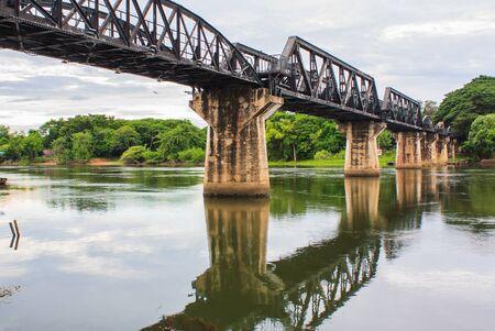 kanchanaburi: the death railway bridge over river kwai in Kanchanaburi Thailand