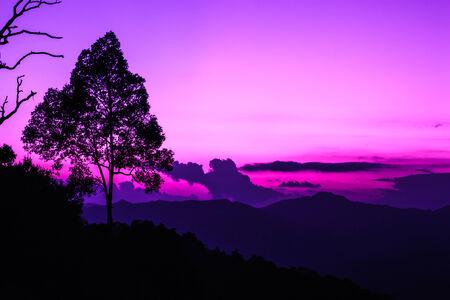 kaeng: beautiful scenery sunset at Kaeng Krachan nationpark, Thailand Stock Photo
