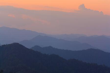 beautiful scenery sunset at Kaeng Krachan nationpark, Thailand photo