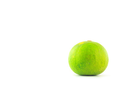 trencher: limes on chopping block on white background