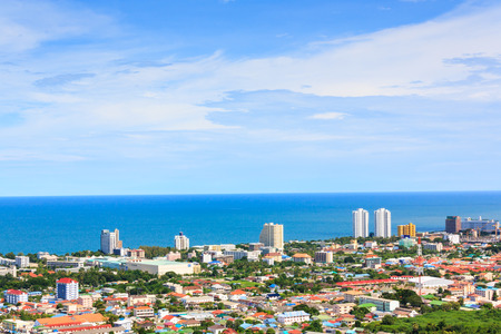 huahin: Huahin city from viewpoint on sunny day