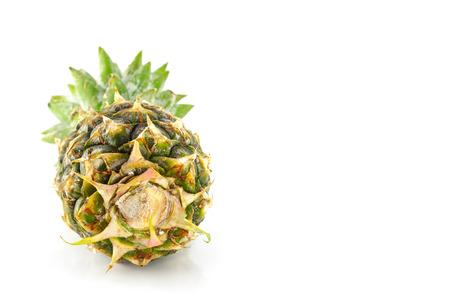 descriptive colours: ripe pineapple on white background Stock Photo