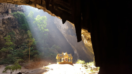 spiritual architecture: pavillion of the king in Phrayanakorn cave,Sam roi yot Nationpark ,Thailand