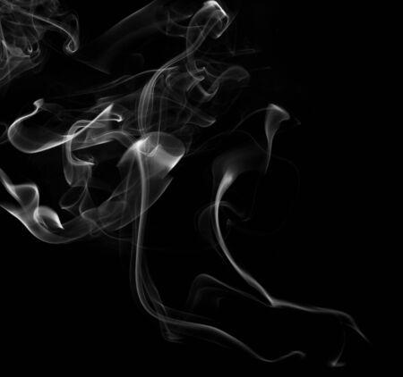 abstrait vague de fumée noir et blanc
