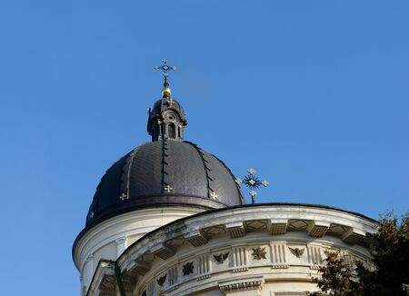lviv: Church of Transfiguration, a monument of architecture in the Lviv Stock Photo