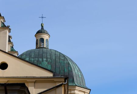 assumption: The dome of the Cathedral of the Assumption of the Virgin Mary (Latin Cathedral). Lvov Stock Photo