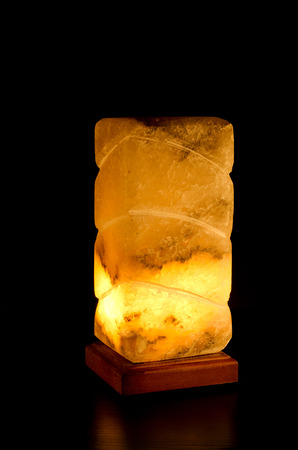 salt lamp: Salt lamp glowing rectangular pattern in the darkness