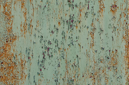 rusty background: Background of gray-green rusty surface, cracked paint