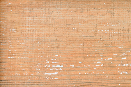 Wide board with brown faded paint. Vintage texture