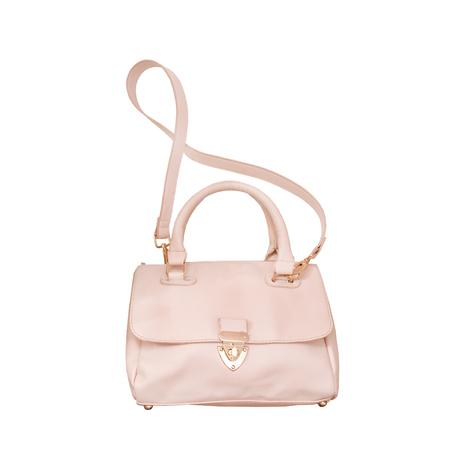 Pink handbag. Fashionable concept. Isolated. White background