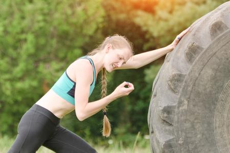 Girl on the street workout damaged fingernail. Annoyance