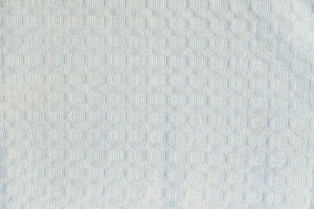 Pale blue textured fabric, rectangles. Solid seamless background. Banco de Imagens