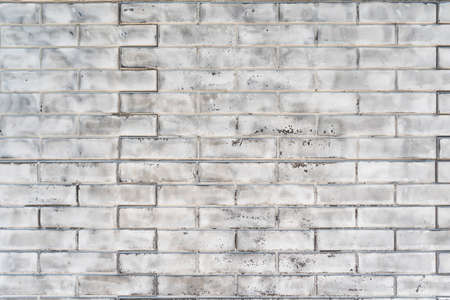 Old brick wall made of white silicate brick. Abstract construction background Stockfoto