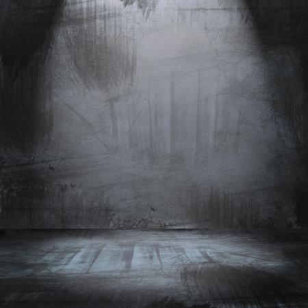 illustration of concert spot lighting over dark background and wood floor illustration