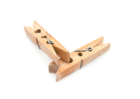 clamps: Wooden clamps Stock Photo