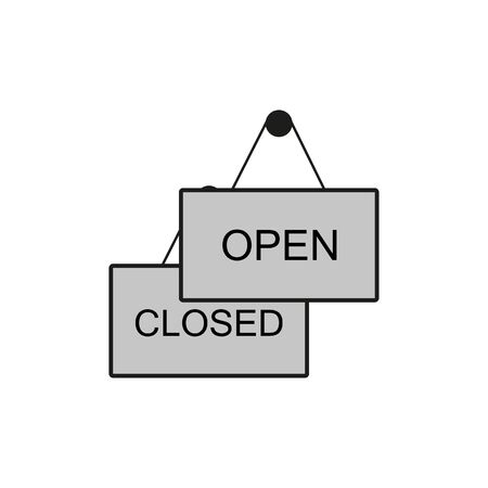 plate open closed icon 向量圖像