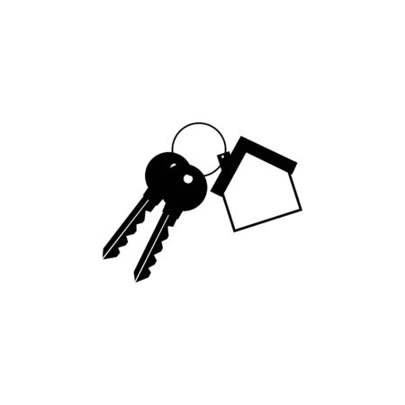 House keys mortgage icon. Flat illustration of house keys mortgage vector icon for web design