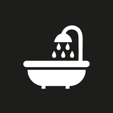 Bathroom icon with shower 向量圖像