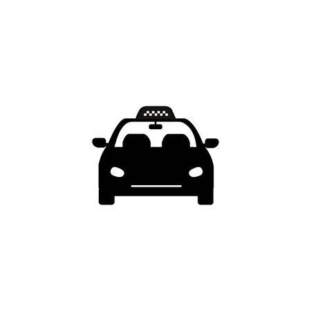 Taxi car vector icon on white background.