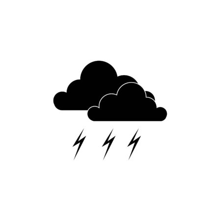 Thunderstorm icon isolated on white background. Ilustração
