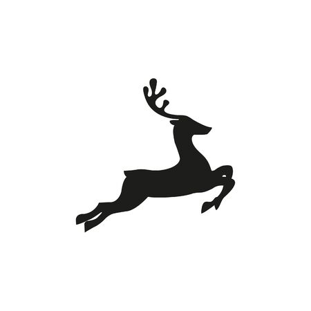 Deer vector icon on white background. Ilustração